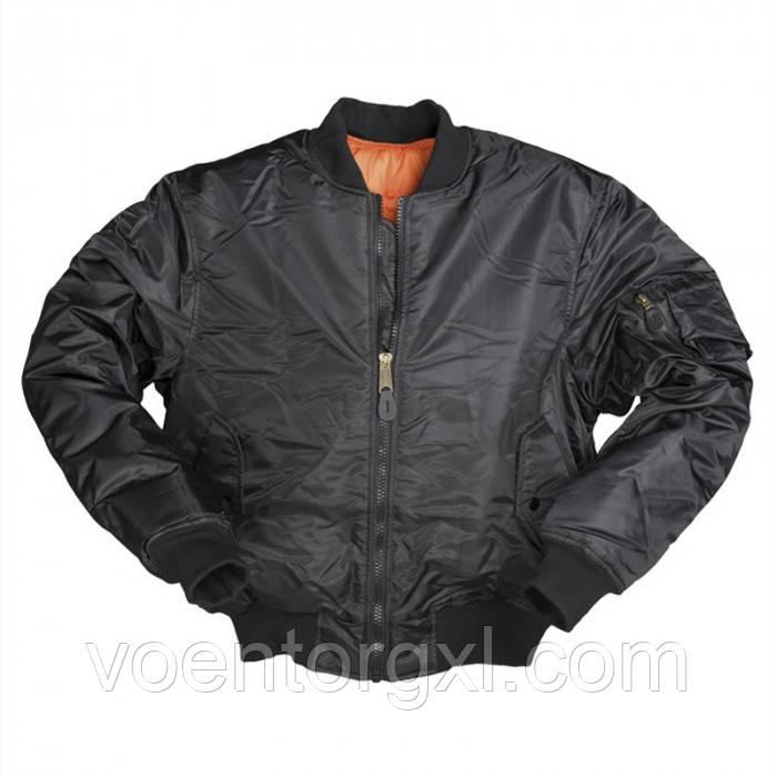 """Льотна Куртка МА-1 """"Бомбер"""" Mil-Tec (Німеччина) Black"""