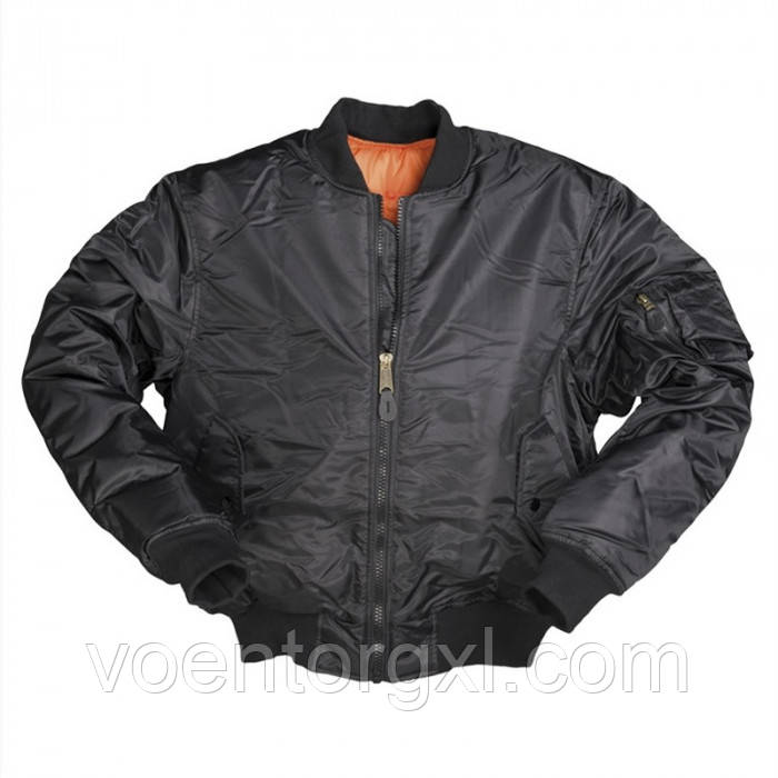 "Куртка лётная МА-1 ""Бомбер"" Mil-Tec (Германия) Black"