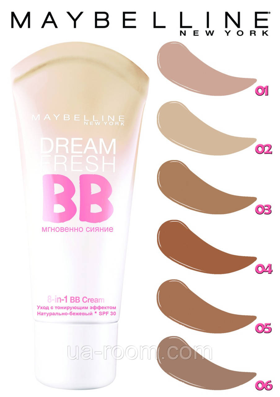 Тональный крем Maybelline Dream Fresh BB SPF-30