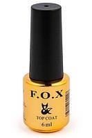 Топове покриття для нігтів F. O. X Top No wipe 6 мл