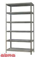 Стеллаж металлический для склада/магазина/дома ЧК-80 1960х920х300, оцинкованный,6 полок металл, до 80 кг/полку