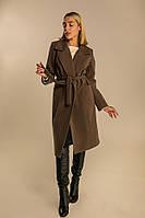 Женское кашемировое пальто хаки S, M, L