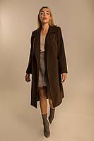 Женское кашемировое пальто, цвет шоколадный S, M, L