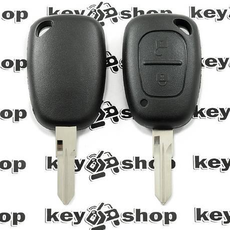 Корпус автоключа для Opel (Опель)MOVANO, VIVARO - 2кнопки, лезвие VAC102, фото 2