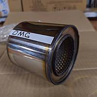 Пламегаситель коллекторный 90/100 , вставка вместо катализатора в коллектор 90/100 (диаметр/высота) нержавейка