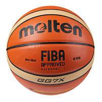 Мяч баскетбольный MOLTEN GG7X COMPETITION 2015-2019 PU №7 композитная кожа (828-003)