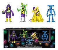 Набор фигурок 5 ночей с Фредди Черный свет / Funko Five Nights at Freddy's Blacklight Animatronic