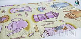 Кухонный коврик-антислип на стол 45х90 см (бежевый)