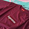 Бордовая футболка Supreme (replica), фото 2