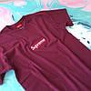 Бордовая футболка Supreme (replica), фото 3
