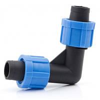 Коліно затискне для крапельної стрічки Santehplast SL-002.3