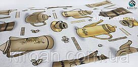Кухонный коврик-антислип на стол 45х90 см (серый с коричневым)