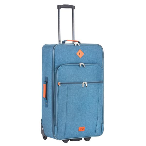 Чемодан TravelZ Hipster (M) Jeans Blue