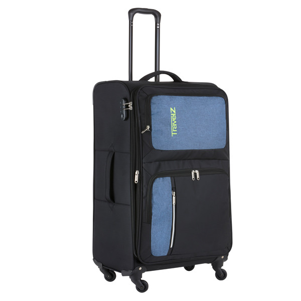 Чемодан TravelZ Triple Pocket (L) Black