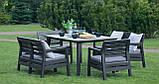 Набір садових меблів Delano Set With Lima Table Graphite ( графіт ) з штучного ротанга ( Allibert ), фото 3
