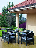 Набір садових меблів Delano Set With Lima Table Graphite ( графіт ) з штучного ротанга ( Allibert ), фото 7