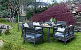 Набір садових меблів Delano Set With Lima Table Graphite ( графіт ) з штучного ротанга ( Allibert ), фото 8