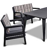Набір садових меблів Delano Set With Lima Table Graphite ( графіт ) з штучного ротанга ( Allibert ), фото 9