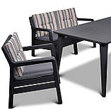 Набор садовой мебели Delano Set With Lima Table Graphite ( графит ) из искусственного ротанга ( Allibert ), фото 9