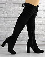 Женские ботфорты Sylvia черные 1281, фото 1