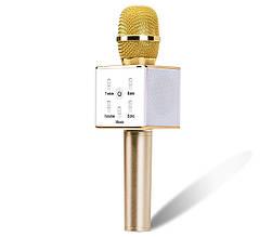 Микрофон для караоке беспроводной (ЗОЛОТО) арт. Q7