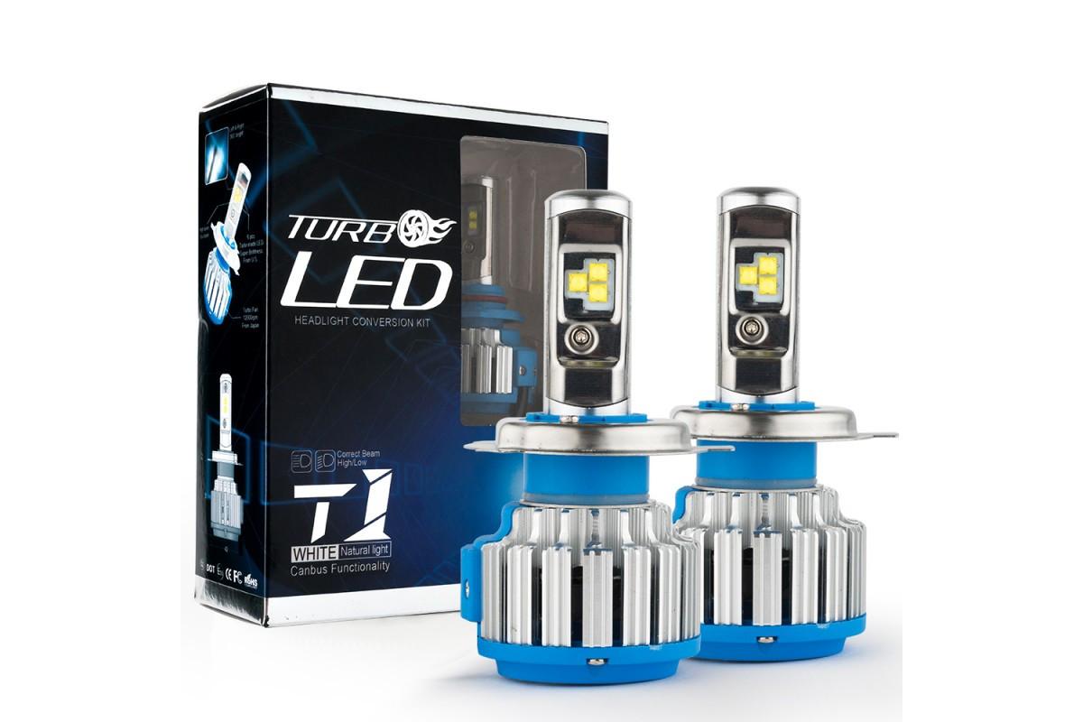 Автомобільні лампи Led T1-H4 Turbo LED 6000K 7000lm
