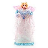 Новогодний сувенир - Ангел 33 см, синий с розовым (180493-9)