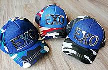 Детская камуфляжная кепка бейсболка ЕХО котон+джинс