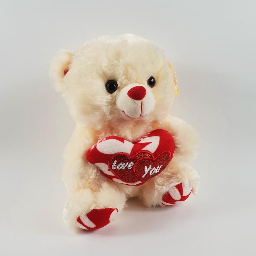 Плюшевый медведь с сердцем музыкальный я тебя люблю 22 см