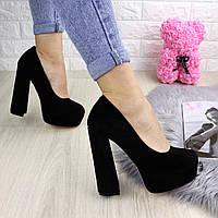 Туфли женские на каблуке черные Iron 1228, фото 1