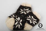 Детские носочки из натурального козьего пуха, мягкие теплые носочки, размер 13-16 см, фото 1
