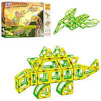 """Магнитный конструктор LT 2004 Magnetic Sheet """"Динозавры"""", 106 дет, фото 1"""