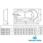 Ванна KOLLER POOL Malibu 150х70 + ножки + сифон, фото 5
