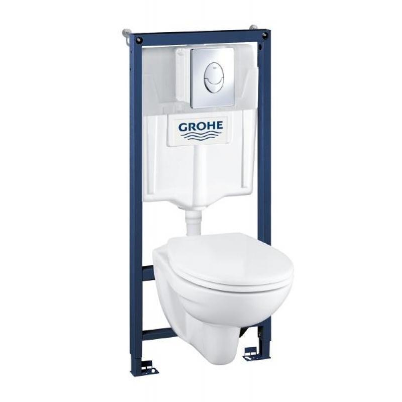 Комплект GROHE Solido Perfect 39192000 инсталляция + унитаз + сиденье Soft Close