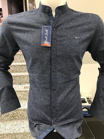 Теплая кашемировая рубашка Paul Jack стойка, фото 2