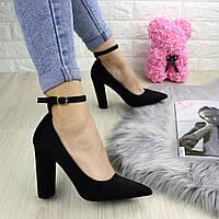 Туфли женские на каблуке черные Persy 1240, фото 1