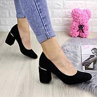 Туфли женские на каблуке черные Ullis 1245, фото 1