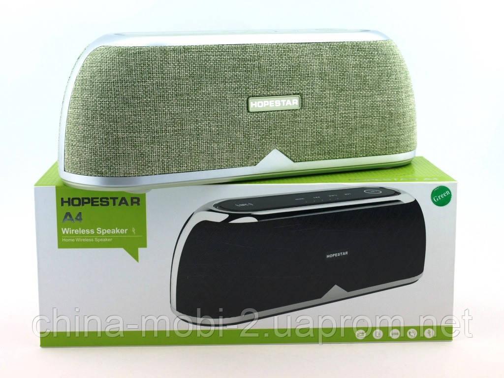 Hopestar А4 музыкальная колонка акустическая система c блютуз, зеленая