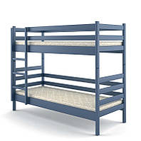 Кровать деревянная двухъярусная 90х200 Соня Mebigrand сосна синий (S7010R90B)