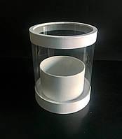 Прозора коробка (акваріум) h25/d20(з прозорою кришкою), фото 1