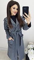 Осеннее длинное женское пальто