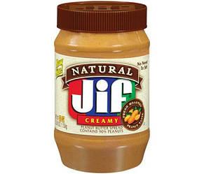 Арахисовая паста (масло) Jif Natural Creamy, 1,13 кг. США
