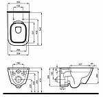 Инсталляция Geberit Duofix 458.126.00.1 с унитазом Kolo Modo L33120000 Rimfree + крышка, фото 4