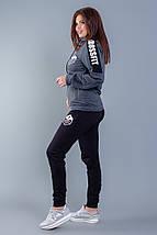 """Женский трикотажный спортивный костюм """"CROSSfit"""" с капюшоном (большие размеры), фото 2"""