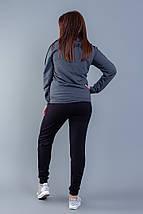 """Женский трикотажный спортивный костюм """"CROSSfit"""" с капюшоном (большие размеры), фото 3"""