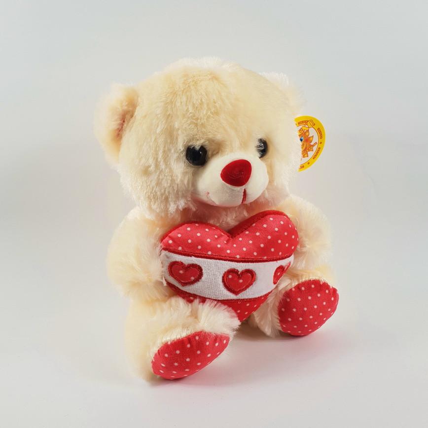 Медведь с сердцем музыкальный 22 см