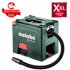 Аккумуляторный пылесос Metabo AS 18 L PC