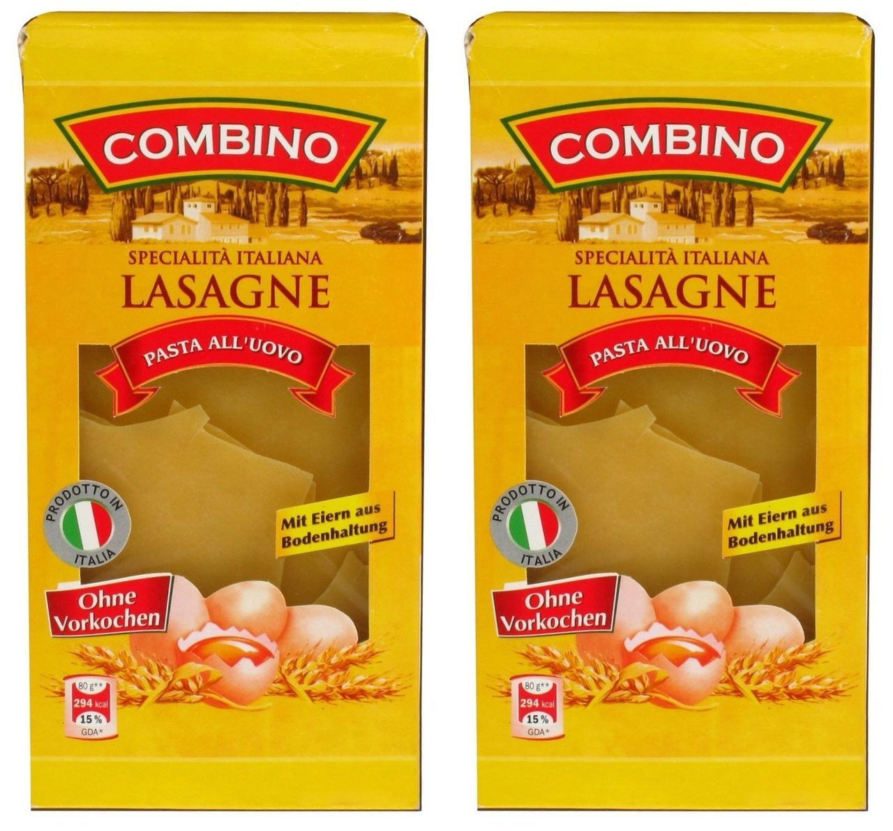 Листи для  лазаньї Combino Lasagne pasta all uovo, 500 гр