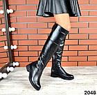 Демисезонные женские сапоги черного цвета, натуральная кожа  37 ПОСЛЕДНИЙ РАЗМЕР, фото 5
