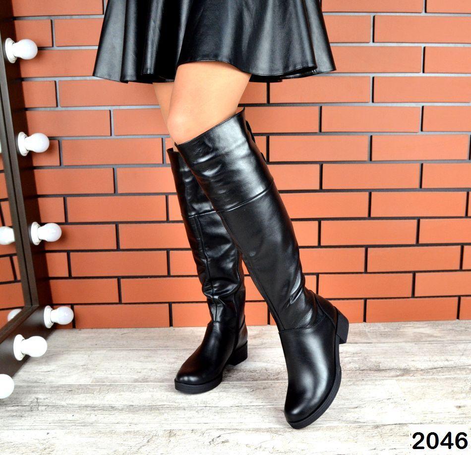 Демисезонные женские сапоги черного цвета, натуральная кожа  37 ПОСЛЕДНИЙ РАЗМЕР